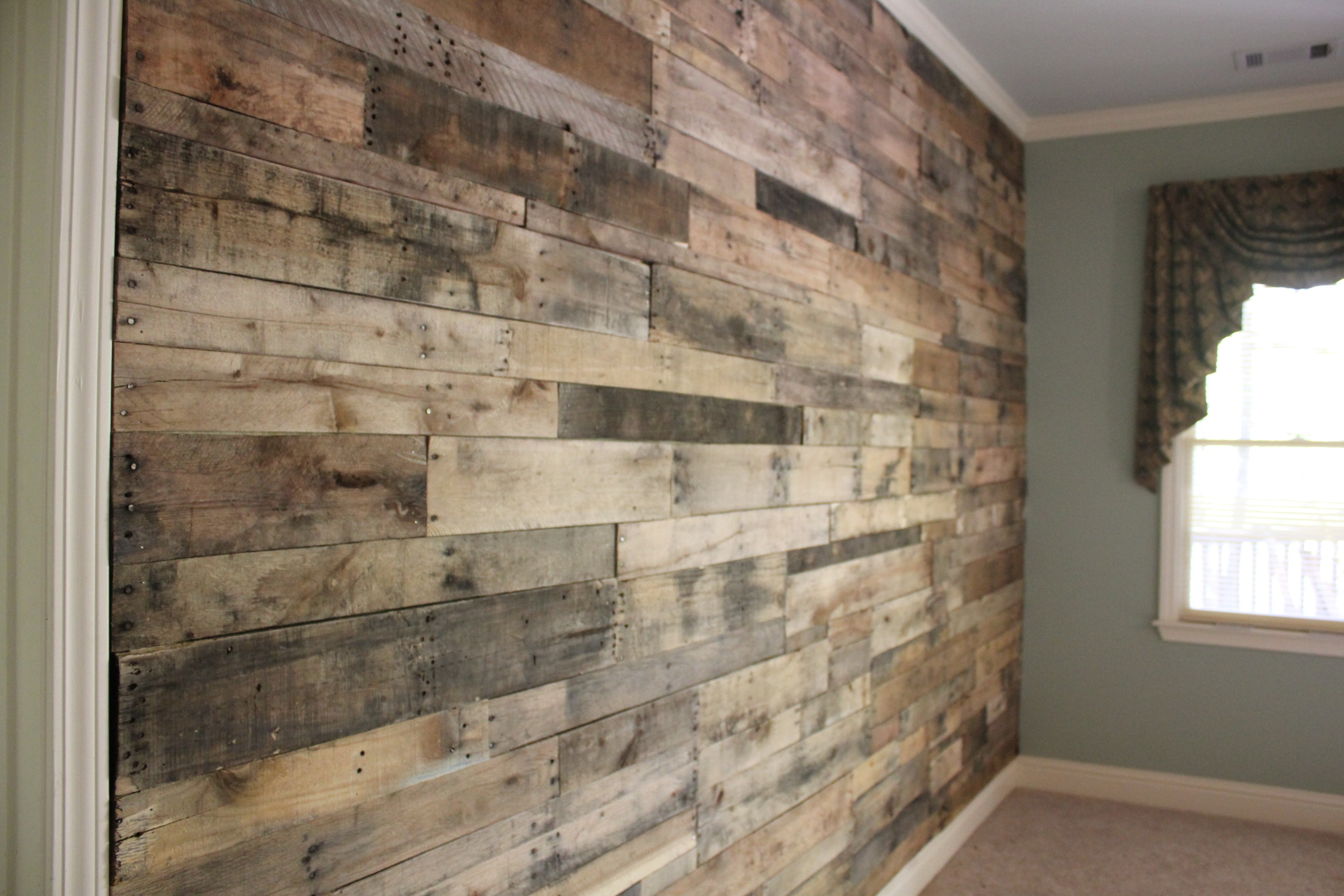 Accent walls butler built llc - Wooden pallet accent wall ...